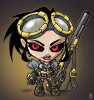 Little Big Head Lady Mechanika by MAROK-ART
