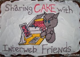 Sharing cake with the interweb by pirateking42
