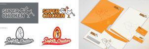 Super Chicken Logo Studies and Branding by jestonischumacher
