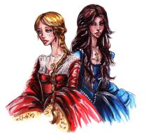 The Boleyn Sisters by Fidi-s-Art