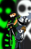 The gecko And Grim Jr. by TheGeckoNinja