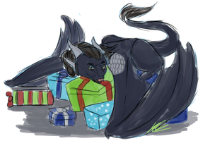Hoarding All the Presents by Ziratoni