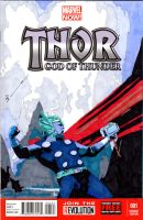 The Mighty Thor 001 Sketch Cover by skyscraper48