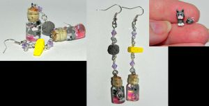 Of Cat and Mouse Earrings by Secretvixen