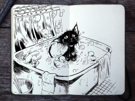 #298 Bath Day by 365-DaysOfDoodles