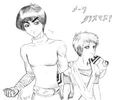 Gaara and Lee FOR ELIZABEE by Nunar