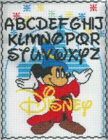 Disney Mickey Sampler Cross Stitch by LordLibidan