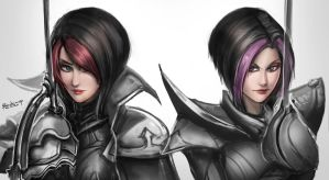 Fiora Old and New by BADCOMPZERO