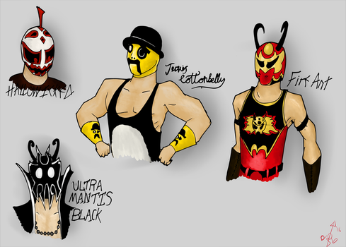 The Roster of Chikara by fimoman