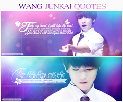 [COVER/ QUOTE ] WANG JUNKAI QUOTES by Ashleylovesel