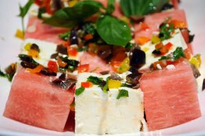 watermelon and feta cheese salad by aperture24