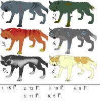 wolf adoptables - 3 by Adoptables-FalakWolf