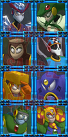 Megaman - Stage Select buttons by Acrosanti