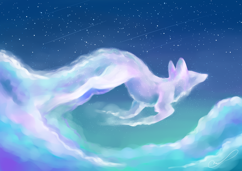 Cloudy sky by Martith