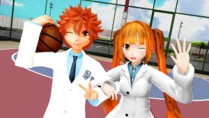 [MMD x KnB] My two Oc's [2014] by LoverCathy