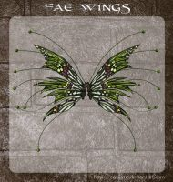 3D Fae Wings 2 by zememz