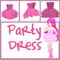 MMD: Party Dress +DL by MikuMikuLiv