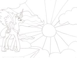 Rise with the sun-uncolored by Horrordragon339