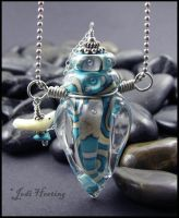 Spirit Bird - Glass Bottle Pendant by andromeda