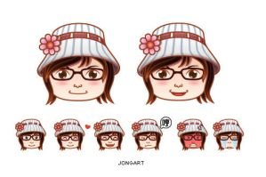 Gal avatar and Expressions by jongart