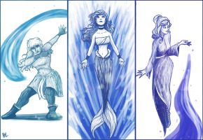 Disney Waterbenders by bealor