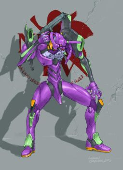 Evangelion Unit 01 by StudioKagato