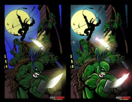 TMNT Colors Cardoso and Murwin by MichaelWKellarINKS