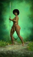 Jungle chick by Zelmarr