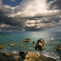 rocks, sea, sky...... by VaggelisFragiadakis