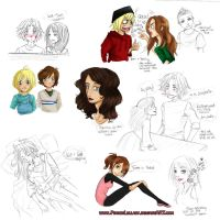 Will, Sam and Co. Sketch Dump by PianoxLullaby