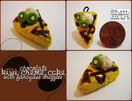 Cocolate Kiwi Creme Cake by Nekoknight