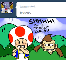 Tell Toad - Banana by pocket-arsenal