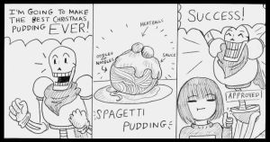 Papyrus' Great Christmas Pudding by Batsu13angel