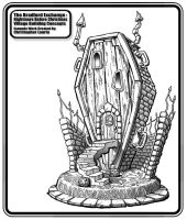 Nightmare B4 Xmas Coffin House by toymaker-cl