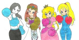 Smash girls boxing lessons request by OutThereOtaku