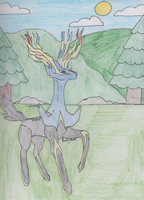 Pokemon - Xerneas by SwiftNinja91