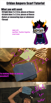 Homestuck Eridan/RoxyScarf Tutorial by GentlemanlySpam