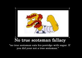 No true scotsman fallacy by Chaser1992