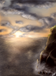 Doodle: sea and clouds by Haekate