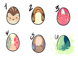 Egg Adoptables Set 1 by sherbi