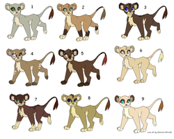 Lionesses adoptables by GiuuM