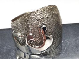 Sterling Silver Wave Ring Handmade by Krystalchains
