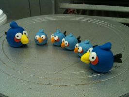 Angry Birds Cupcake Toppers by Spudnuts