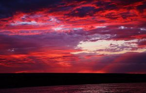 Red Ray Sunset by Marilyn958