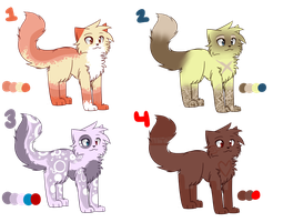 Adoptables Group 1 by MysteryBot