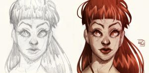 Sketch and Colour by richie-on-a-mission
