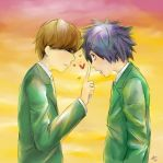 Raito and L are Schoolboys by tryscicle
