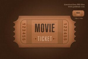 Ticket icon by psdblast