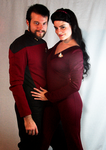 Commander Riker and Deanna Troi by paedess
