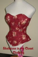 Flower Corset Red by BlackvelvetSITC
